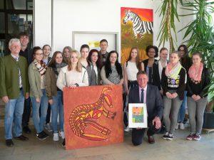 Schulhausgestaltung Eschenbach Gruppenfoto